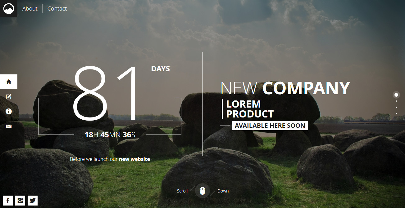 "Timex - A ""Coming Soon"" Page Timex - A coming soon HTML5 page template."